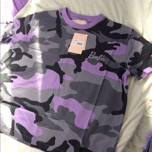 Barbie x Missguided purple camo t shirt